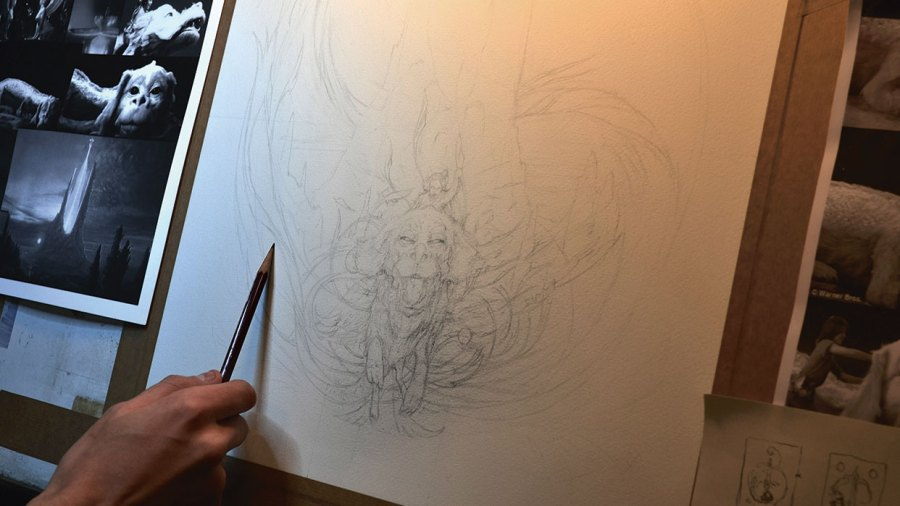 How to draw mixed media: generate a detailed drawing
