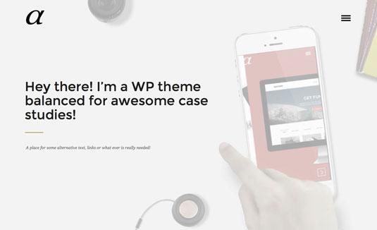 WordPress portfolio themes - Alpha