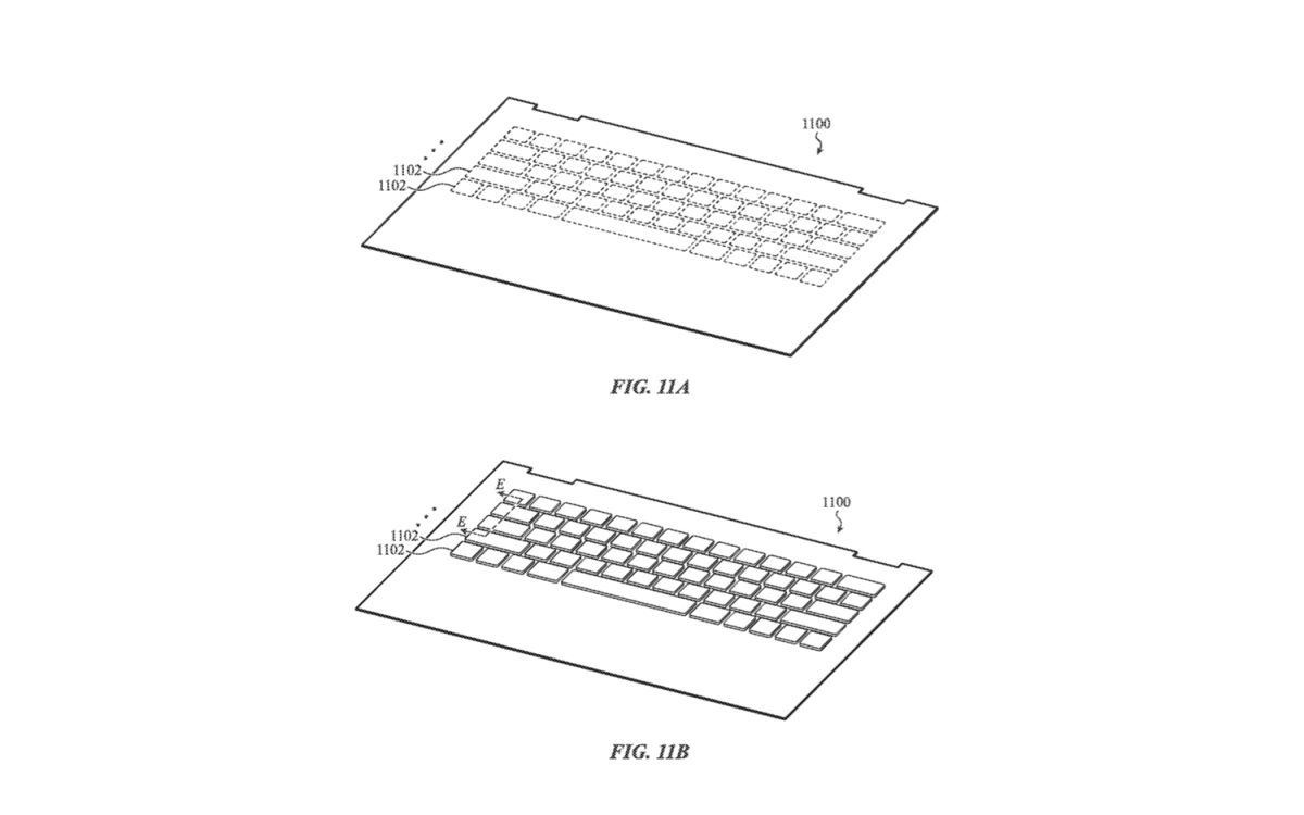 Apple Patents Glass MacBook Keyboard That Bends Under Your