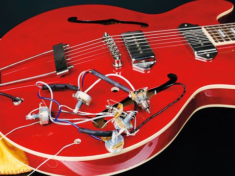 50s Wiring Diagram How To Change The Pickups On A Gibson Es 335 Style Guitar