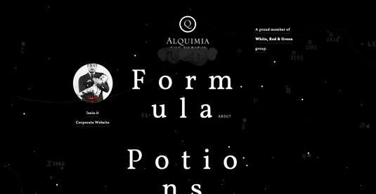 Example of parallax scrolling websites: Alquimia
