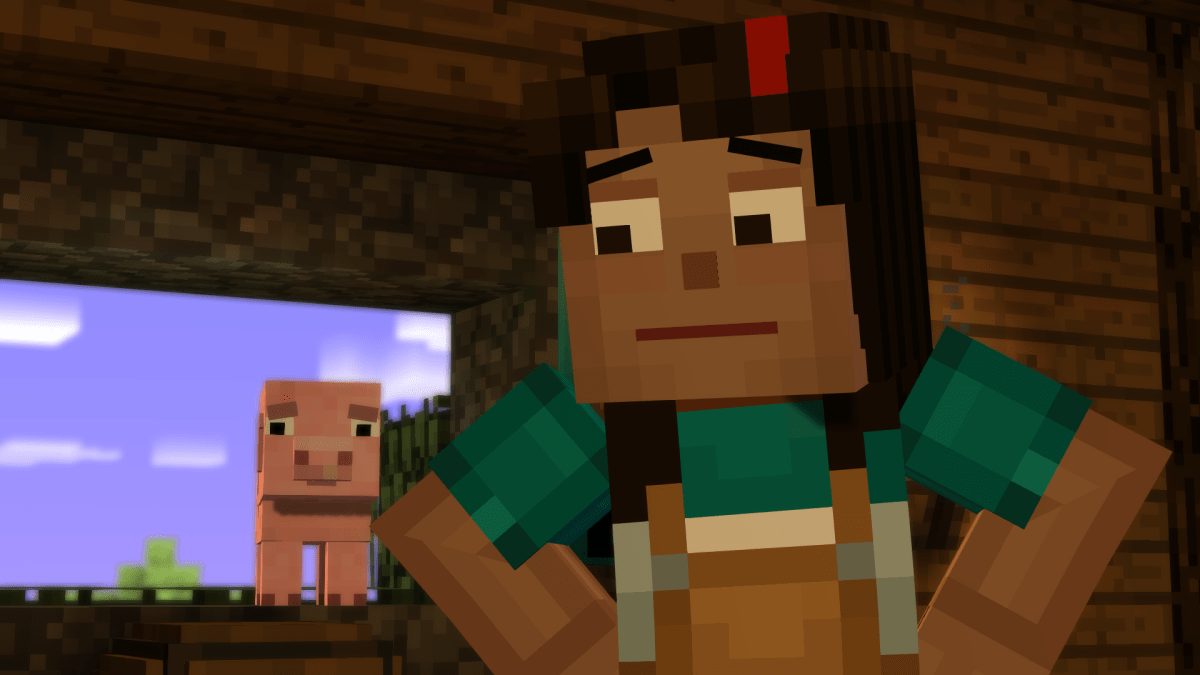 Minecraft Story Modes First Episode Is A Blocky Mess