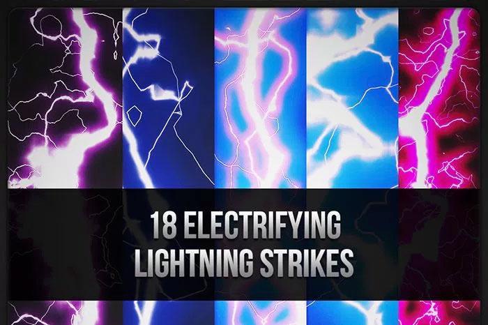 Lightning bolt Photoshop brushes