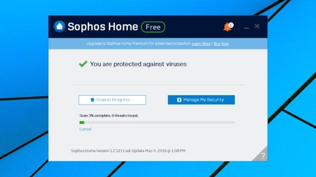 Sophos Home Free scanning