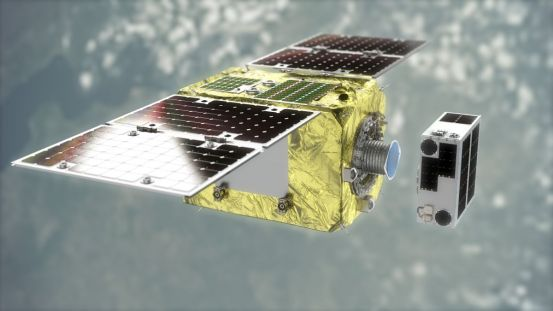 The tiny Astroscale satellite will test the technology of cleaning space debris with magnets