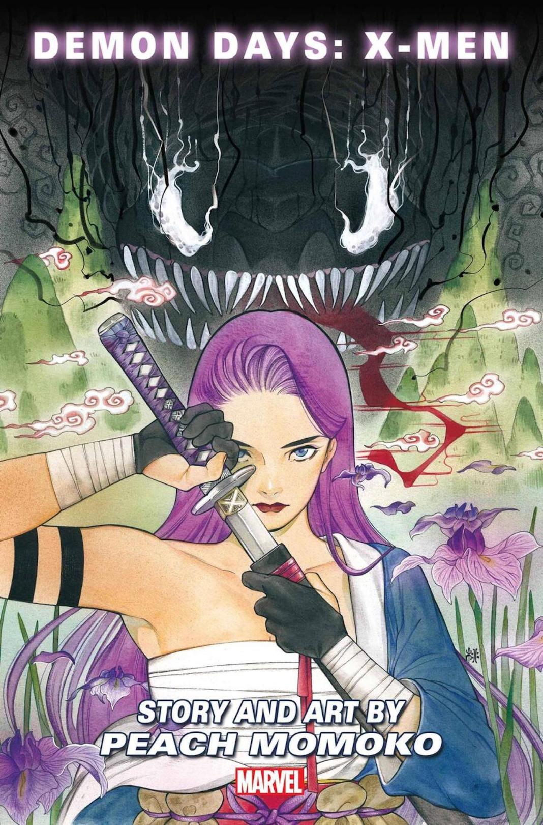 Página de Demon Days: X-Men # 1 por Peach Momoko