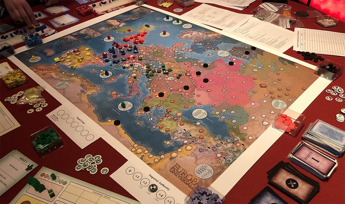 the europa universalis board