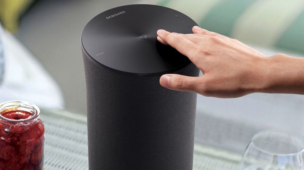 A photo of a samsung speaker