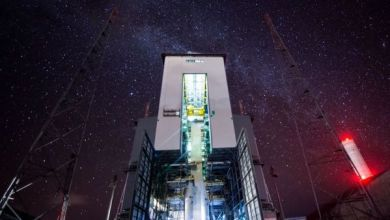 Milky Way lights up Guiana spaceport in stunning time-lapse video