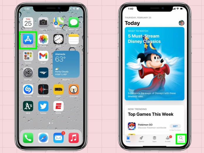 how to delete apps from an iPhone: Restore apps from App Store