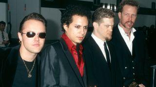 Metallica in 1997: Lars Ulrich, Kirk Hammett, Jason Newsted and James Hetfield
