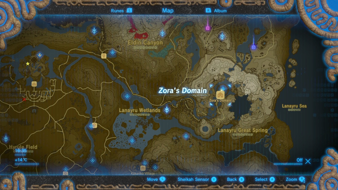 Zelda Breath Of The Wild Map Size Comparison - Maps For You