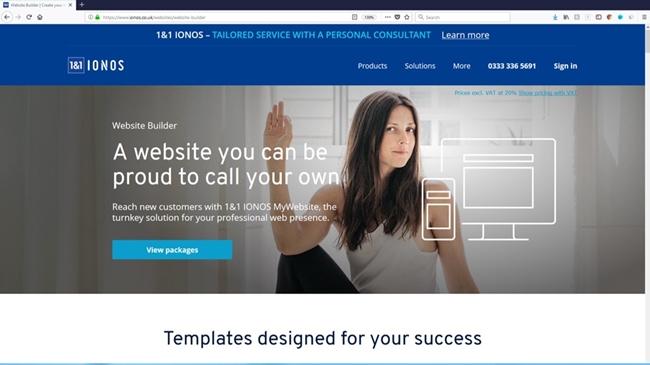 IONOS website builder