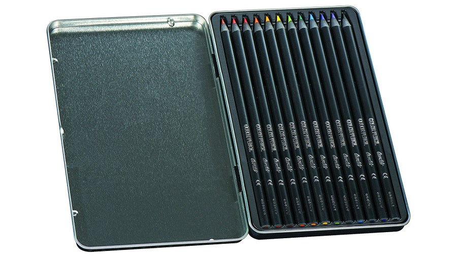 Tin of BIC Conté colouring pencils