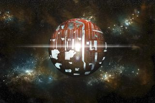A conceptual illustration of a Dyson sphere