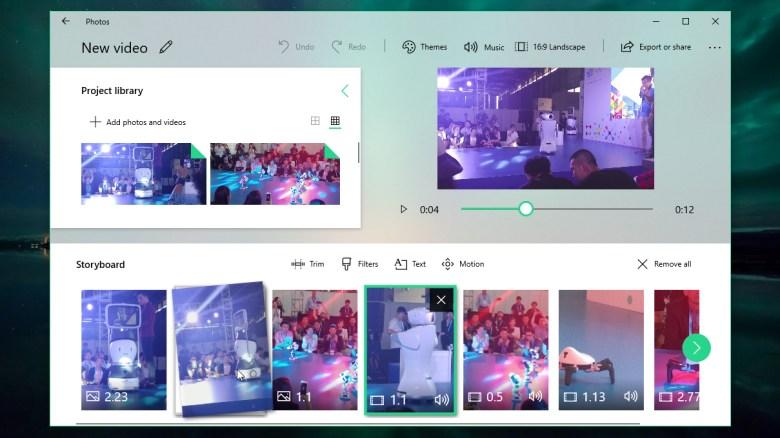 Rearranging media files in Microsoft Photos