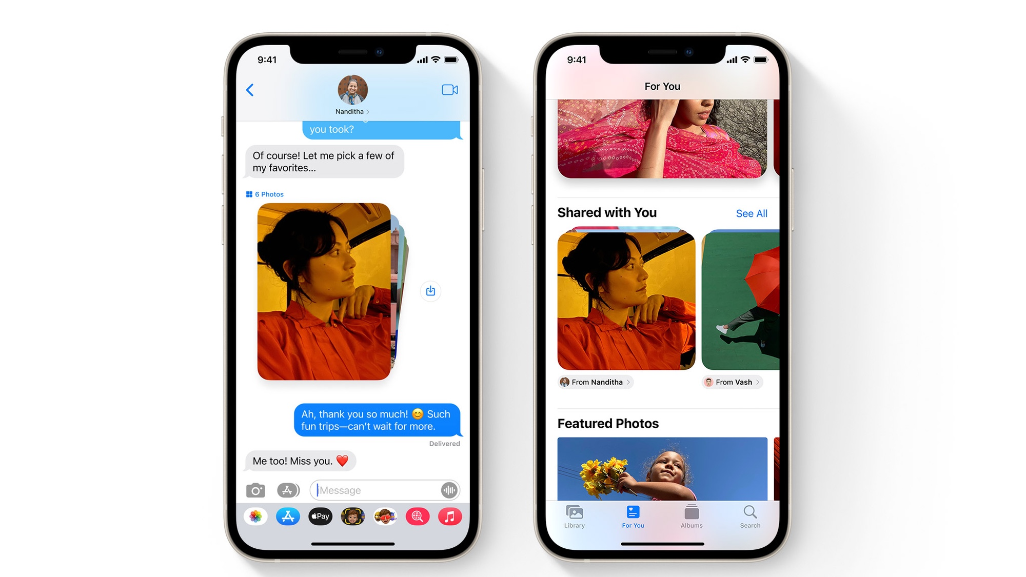 iOS 15 features messages