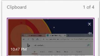 Cloud clipboard screenshot in Redstone 5