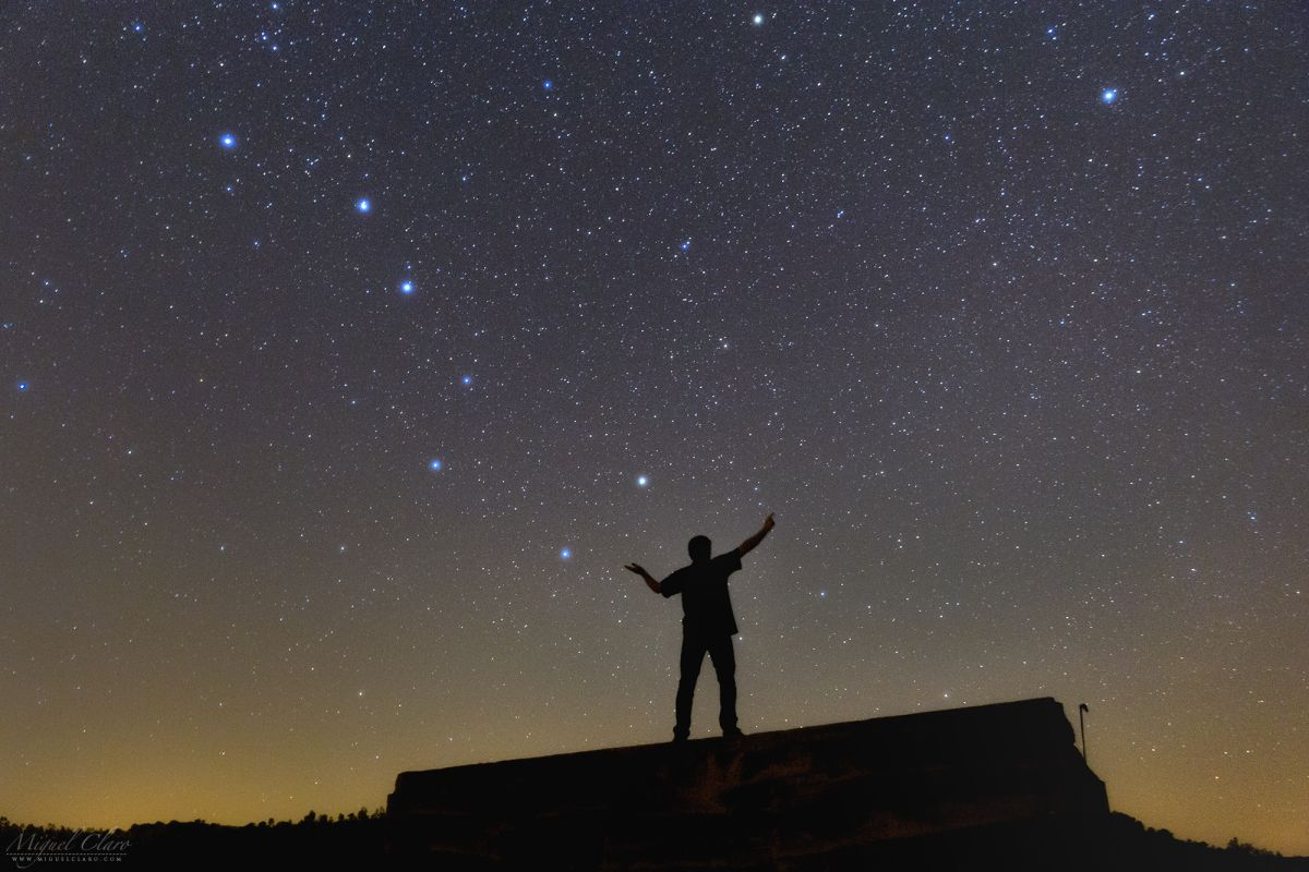 A Skywatcher Shows You Where To Find The North Star Photo