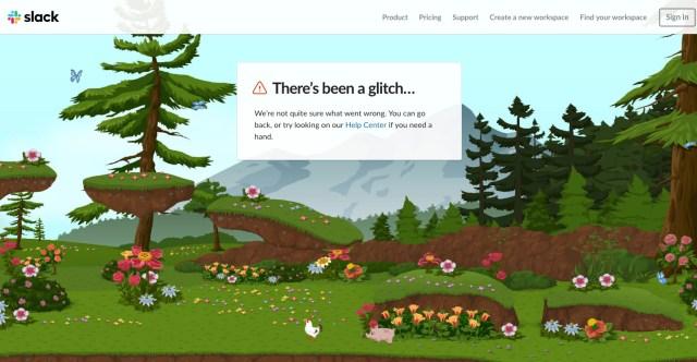 Slack 404 page