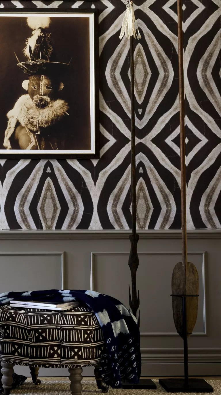 abstract zebra print bedroom wallpaper by mindthegap