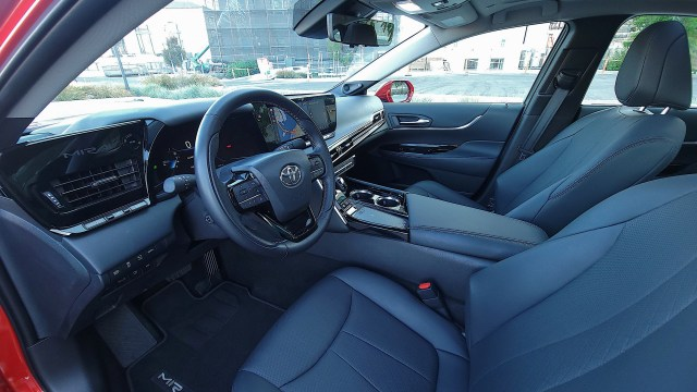 View of dash and front seats in the Toyota Mirai (2021)
