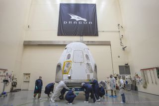 The SpaceX Crew Dragon spacecraft for the Demo-2 mission made it to Florida's Space Coast on Feb. 13, 2020.