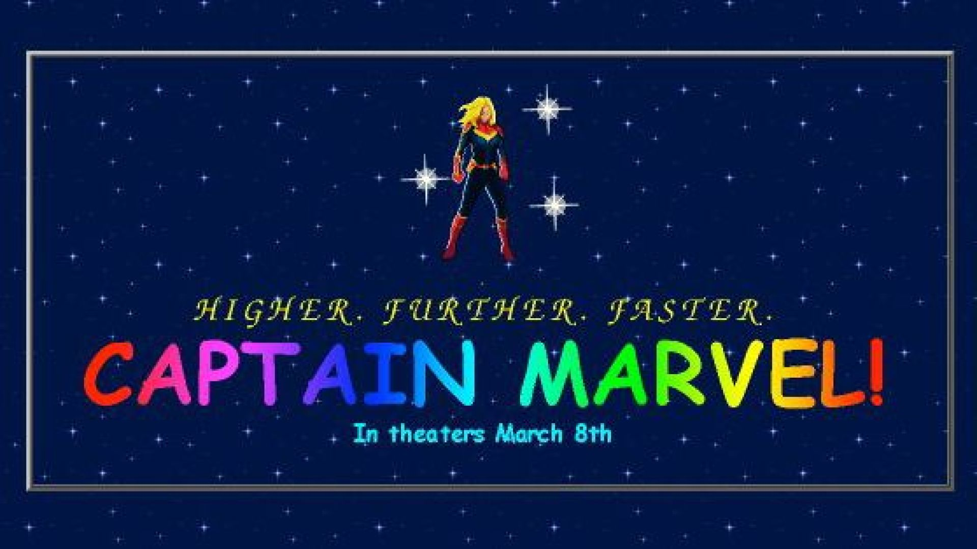 Captain Marvel website is a beautiful '90s mess