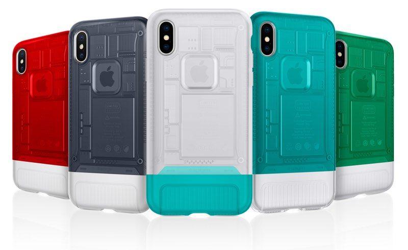 5 Spigen iPhone X cases in different colourways