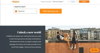 best language learning apps: Babbel homepage