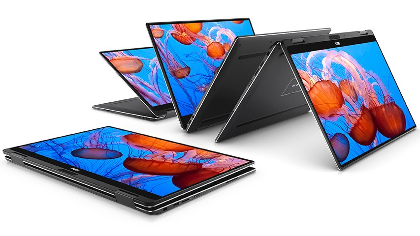 Dell XPS 13 2-in-1 laptops in flexible positions