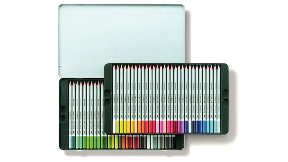 Tin of Staedtler Karat Aquarell watercolour pencils