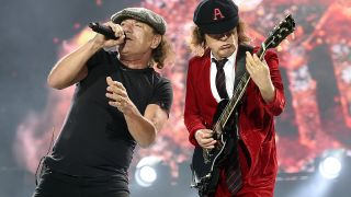 AC/DC's Brian Johnson and Angus Young