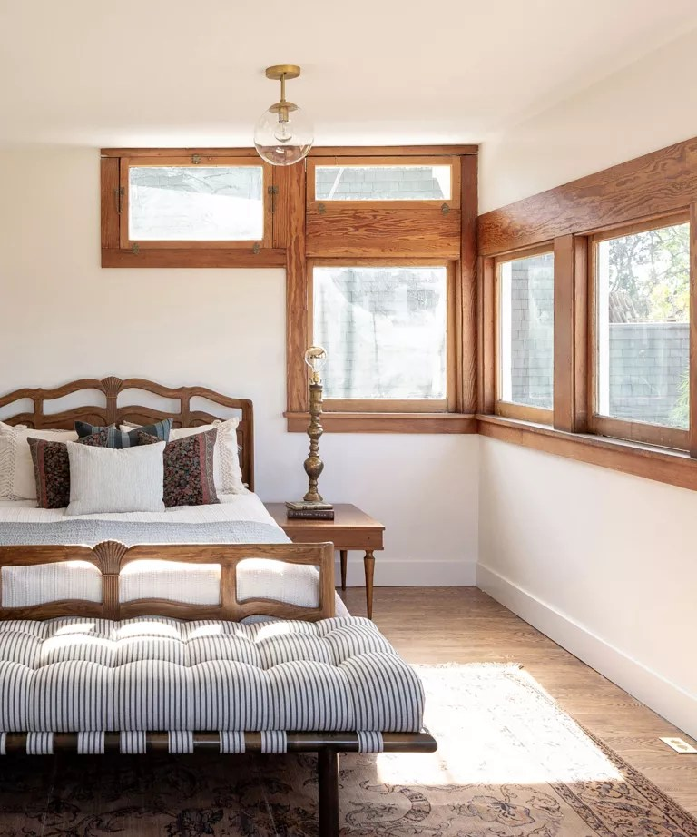 Bedroom accent wall ideas with window