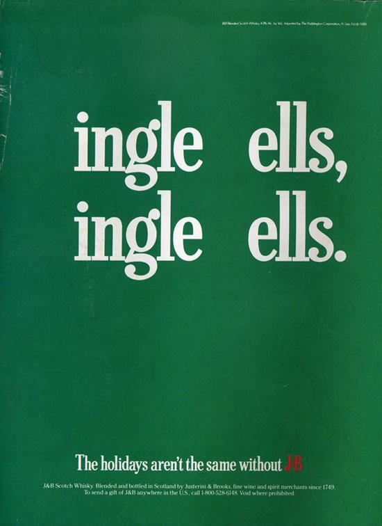 Best Christmas alcohol adverts: JB Whisky ingle ells