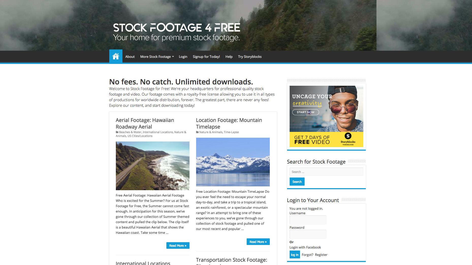 Stock Footage for Free screen grab