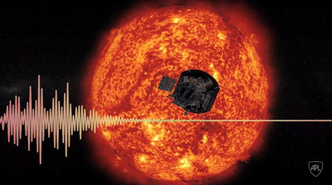 """Parker Solar Probe's FIELDS instrument can """"hear"""" the solar wind coming from the sun."""