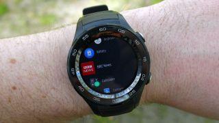 The Huawei Watch 2's screen feels slightly more cramped than we'd like