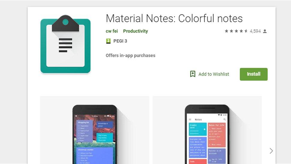 Material Notes - A visual way to make notes