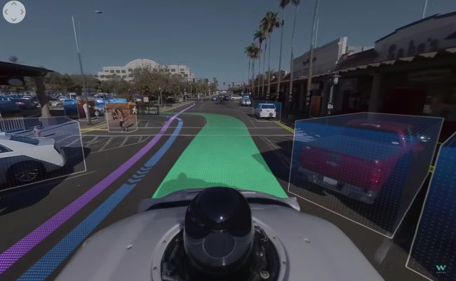 Visualisation of what a driverless cars sees