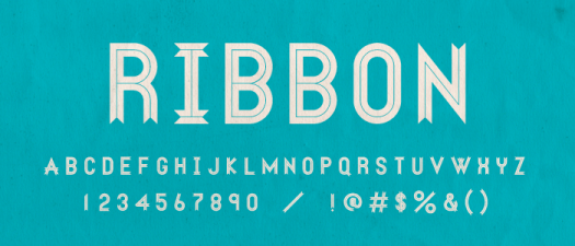 Fun fonts: Ribbon