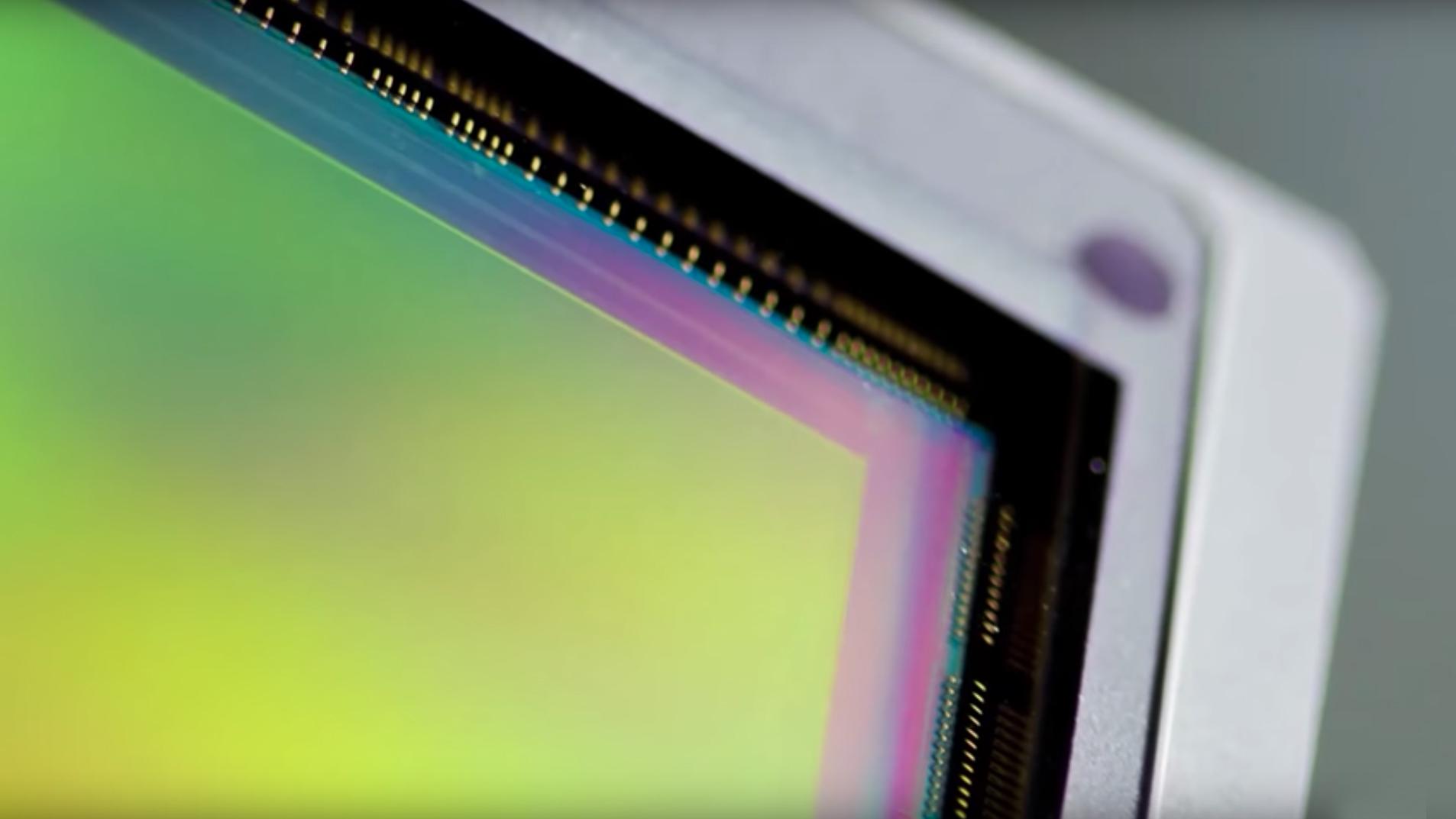Close-up of a Canon image sensor