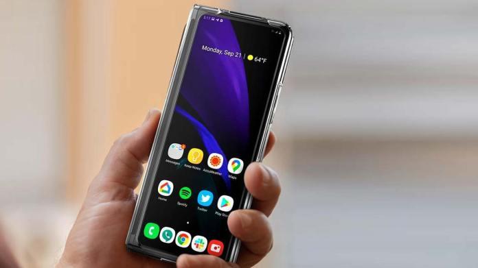 Samsung Galaxy Z Fold 3 in hand