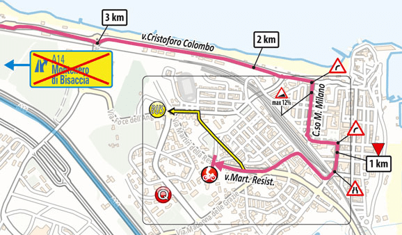 The profile and map of stage 7 of the Giro d'Italia 2021