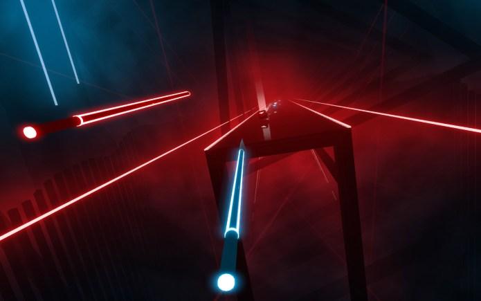 best VR games: Beat Saber