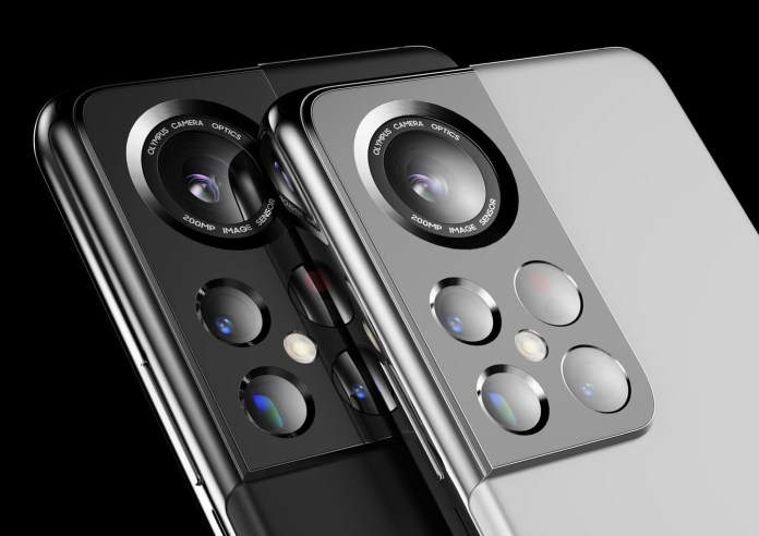 render images of a concept cameras of the Samsung Galaxy S22