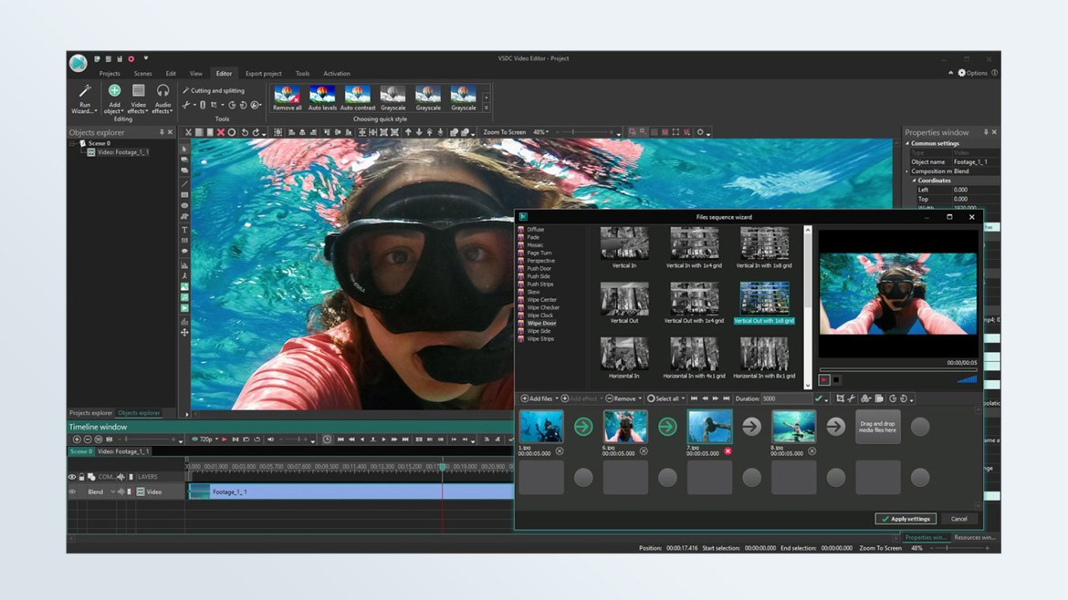 Best free video editing software: VSDC