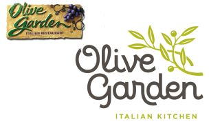 Olive Garden logo (before and after)