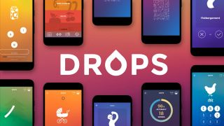 best language learning apps: Drops homepage