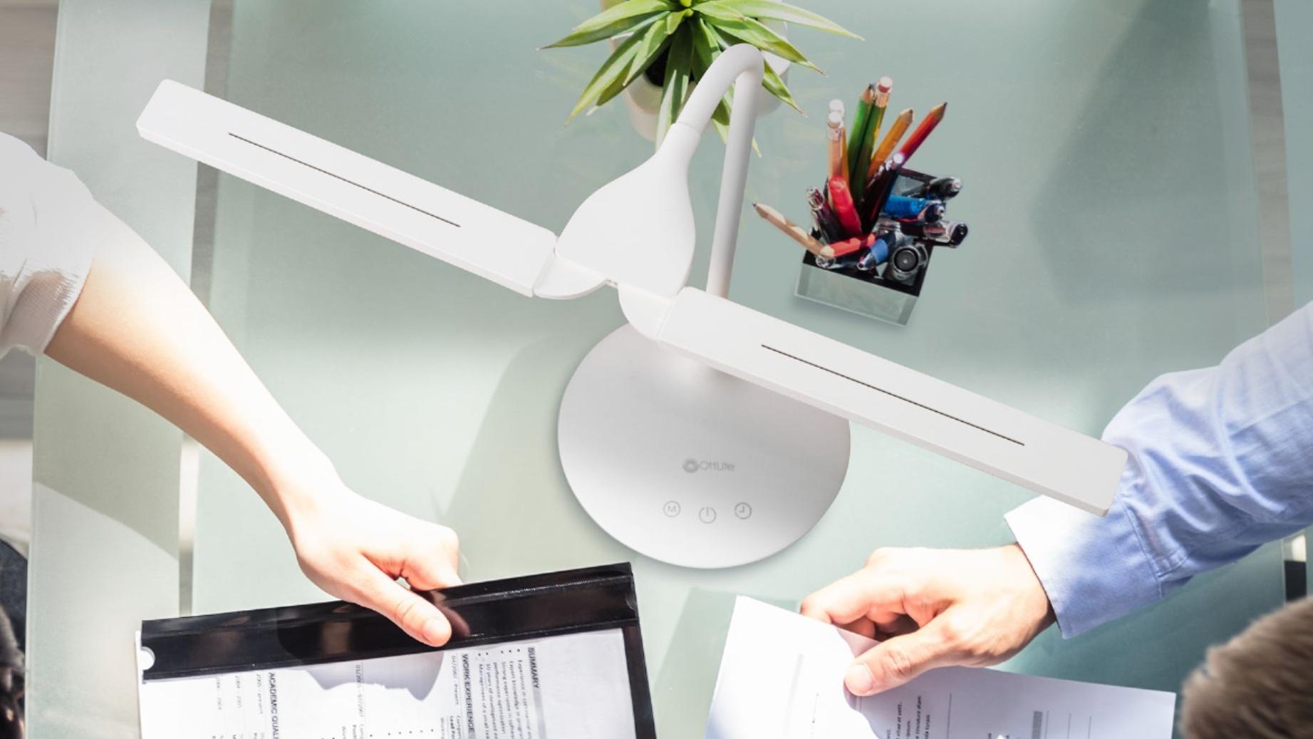 Best desk lamps: OttLite Dual-Shade LED Desk Lamp